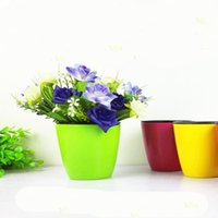 Wholesale Plastic Flower Pot Enclosed Inner Succulent Plant Nursery Containe Home Office Decoration Garden Supplies Retain Water