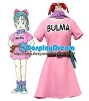 Wholesale Dragonball Z Bulma Cosplay Costume Anime Costume Custom made Halloween carnival cosplay costume