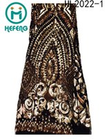 lace material - High quality fahion dress materials african french net lace with sequins embroidery nigerian lace for wedding HL2022 HL2023 HL2021