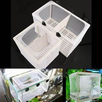 Wholesale Aquarium Baby Fish Tank Partitions Guppy Breeding Breeder Soft Net Trap Box Nursery Fish Hatchery
