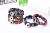 Wholesale 2015 fashion Noosa Chunks Snap Bracelet Noosa Adjustable Watchband Chunk Snap Button Genuine Leather Bracelet bangle interchangeable jewelry