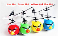 Wholesale Flying Toys Bird Saucer UFO RC Remote Infrared Induction Hand Control Helicopter Quadcopter Ball Hovering and Floating Bird Toys Flashing