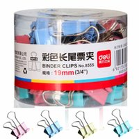 Wholesale Colorful Paper Clip Bookmarks Binder Clips Stapler Binding Supplies School Office Supplies Document