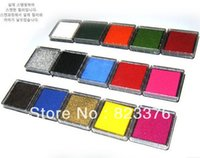 Wholesale DHL colors Craft Ink pad Colorful Cartoon Ink pad for different kinds of stamps mon