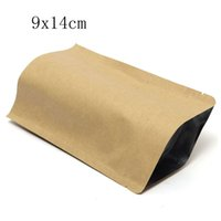 Wholesale Hot Sale x14cm Stand up Kraft Paper Food Gift Ziplock Bags Aluminum Foil Pouch Self Sealing High Quality