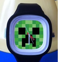 Wholesale retail New Arrival New creative Minecraft Creeper kids watch Minecraft Fashion Watches Children Minecraft Wristwatches