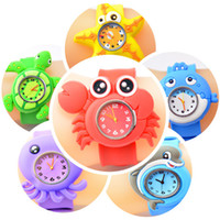 Wholesale New Arrival Hot Models Ocean Animal Series Slap Watch Cute Animal Cartoon Slap Snap Watch Silicone Wrist Watch for Children Gift