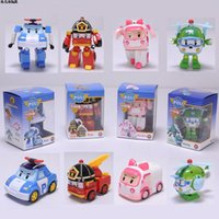 Wholesale with retail pack Robocar poli deformation car bubble South Korea Thomas toys models mix robocar poli