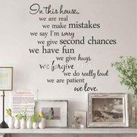 Cheap Free Shipping In This House Wall Sticker Home Decor Stickers Decals Decorate Removable Stickers for Living Room 55.8*55.8 cm