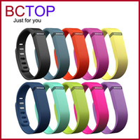 Wholesale Fitbit Flex Band Black With Clasp Replacement TPU Wrist Strap Wireless Activity Bracelet Wristband With Metal Clasp No Tracker