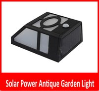 antique gardening - Outdoor LED Solar Power Wall Antique Garden Light Landscape Lamp No Battery Antique Romantic Light Outdoor Camping Lighting