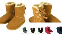 shoes australia - DORP SHIPPING New Fashion Australia classic tall BGG winter boots real leather Bowknot women s snow boots shoes with gift