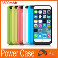 Wholesale 3500mah Power case for iphone External Backup Battery Charger back Case protective Power bank for inch iphone6