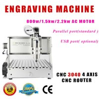 Wholesale 3040 w spindle motor cnc router cnc mini milling for wood metal