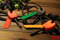Wholesale Free DHL Outdoor Survival Tool Magnesium Magnesium Stick Flint Stone Fire Maker