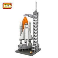 architecture usa - LOZ Space Shuttle Building Blocks World Famous Architecture Mini Bricks DIY Toys Present Gift USA