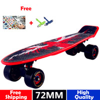 Wholesale New globe peny board original complete Skateboard griptape Retro Mini Skate long board cruiser longboard mm big wheels