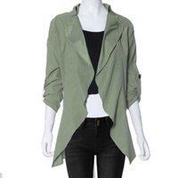 best women down vest - w1025 Best seller Women Autumn Clothing Suit Jacket Female Thin Blazer Loose Turn down Collar Pocket Coat