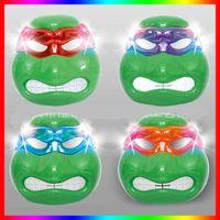 ninja turtles - Big Discount New Ninja Turtles Mask LED Film Flashing Mask Teenage Mutant Ninja Turtles Mask Models Led Light For Children Day