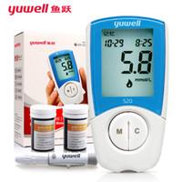 Wholesale yuwell monitors blood glucose meter yuyue blood sugar tester glucometer monitor diabetes tester blood sugar machine FDA strips