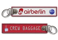 Wholesale Easy Travel Air Berlin Crew Baggage Tag Embroidery Keychain Key Chain x mm