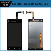 display cell phone - For HTC Windows Phone X C620E Cell Phone LCD Display With Touch Screen Digitizer Black Color Repair Cell Phone Accessories