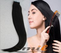 Wholesale tape hair tape hair extensions g pre tape hair extensions b colour silky straight quot