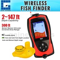 Wholesale FF1108 CW Lucky Wireless Fish Finder ft Depth Range Colored TFT LCD Display Fishfinder Sensor Sonar Frequency Fish Detector Fishing