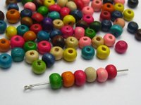 Wholesale 2000 Mixed Color mm Round Wood Beads Wooden for jewelry accessories necklace pendant bracelet DIY handmade craft