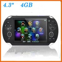 Wholesale New GB Handheld Game mp5 Player mp3 Player mp4 Player With Dual Joystick Camera FM TV Out Portable Game Console