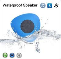 car hands free microphone - Shower Waterproof Wireless Bluetooth Speaker Portable Mini Suction Cup Hands free In car Built in Microphone for iPhone Samsung
