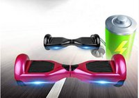 skateboards - 6 Inch LED Light Electric Scooter Smart Balance Scooter Two Wheel Balance Board Hoverboard Skateboard Battery Self Balancing Skateboard