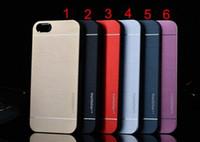 Wholesale Luxury thin Motomo Brushed Brush Aluminium Metal Slate Hard Back Case Cover For iphone inch iphone plus