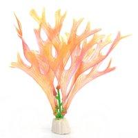 Wholesale Hot Sale Mini Artificial Simulation Plants Grass Decorations For Aquariums Fake Coral Ornaments Home Decor