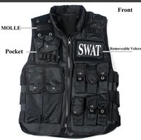army security - Fall Men SWAT FBI Security Protective CS Vest Outdoor Military Black Army Tactical Training black Vest Waistcoat Men