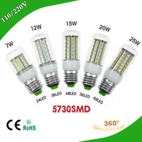 Wholesale 1Pcs W W W W W E27 LED Corn Bulb V Samsung SMD5730 LED lamp Spotlight LED LEDs LEDs LEDs LEDs For light