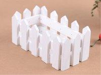 Wholesale 2 cm White Wood Fence Wooden Flower Planter Home Decoration Dedicated Pots
