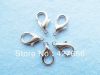 Cheap 13.00mmx20.80mm Good Quality Rodium Metal Lobster Clasps Hooks Connector Charm Finding,DIY Accessory Jewellery Making