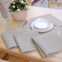Wholesale PC High Quality Non Embroidered Linen Napkins Wedding Supplies Decoration Home Accessories