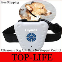 Wholesale High Quality Ultrasonic Dog Anti Bark No Stop Barking Pet Control Collar Train Training Device Newest