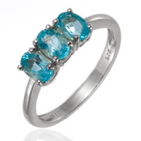 apatite engagement ring - GENUINE APATITE STONE SOLID STERLING SILVER RING WOMEN S JEWELRY