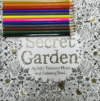 Wholesale Secret Garden Pages English Edition Coloring Book For Children Kids Adult Relieve Stress Kill Time Graffiti Painting Drawing Book