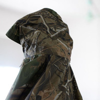 Wholesale Raincoat Outdoor Jungle Hunting Camouflage Waterproof Hooded Long Poncho Awning