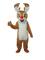 Cheap high quality mascot costumes Light Brown Bambi Deer Moose Mascot Costume the product are as the photo not black color