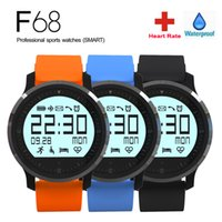 Wholesale Smart Watch F68 Sports Watch Fitness Heart rate Tracker Smart Healthy Watch reloj inteligente for android IOS8 Smartwatch DHL Free