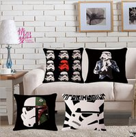 Wholesale 2016 Pillow Cover Star Wars Black Knight for Stormtroopers Imperial Soldier Lightsaber Cotton Linen Throw Pillow Case Cover Home cm cm