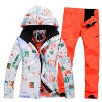 Wholesale Gsou snow outdoor ski suit Men set monoboard skiing clothing windproof waterproof thermal