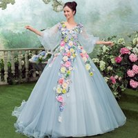 beautiful dressing tables - The new Summer beautiful faery skirt bridal gowns host table costumes of tall waist party Quinceanera Dresses
