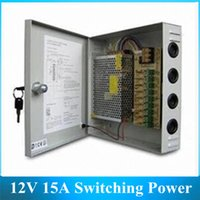 Wholesale 9CH DC V A Switching Power Supply With Box W Monitor Camera V Power Transformer