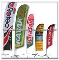 Wholesale Flying Banner Beach flag beachflag Teardrop Flag Banner Feather Flag